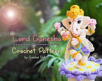 Crochet Doll Pattern - Lord Ganesha (Guichai Dolls Pattern, Amigurumi, Photo Tutorial)