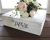 Rustic  Wedding Cake Stand, White Wooden Cake Stand, Wedding Decor, Vintage Wedding, Cottage Chic Wedding, Rustic Wooden Box, B-1