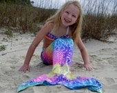 Mermaid Tail,  Fast Shipping! 9 colors; Swimmable and Walkable Mermaid Costume