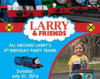 Thomas the Train Birthday Party Invitation