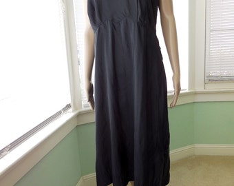 BLACK TAFFETA Slip/Vintage Slip/Black Dress Slip/Plus Size 40/Black Lingerie/Dress Slip/Side Zipper/WEARPRUF/40s Vintage Lingerie/Size 40
