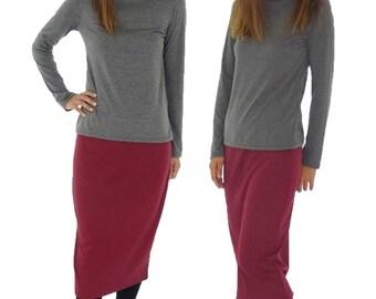 HS700R ladies skirt Burgundy Gr. 38 40 42 business skirt pencil skirt stretch pencil skirt