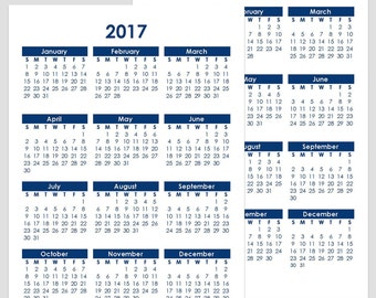 2017 & 2018 and other Yearly Calendars - A5 - 148 x 210mm