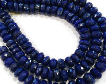 Lapis lazuli micro-faceted rondelles.   Approx. 6.5mm.   Select a quantity.