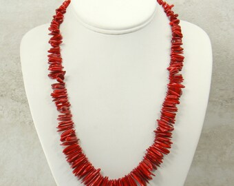 Red Coral Necklace, Handmade Statement Necklace, Coral Gemstone Necklace, Bead Necklace, Red Coral Jewelry, Bib Necklace, Fashion Necklace
