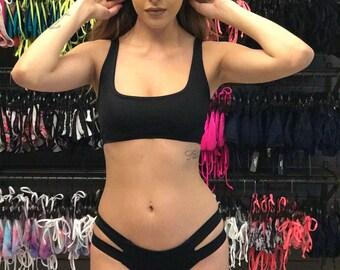 Black 2 pc. Bikini - custom sizing optional