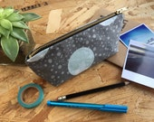 Pencil Case Moon & Stars // Space Constallation Pencil Pouch Stationery Organiser