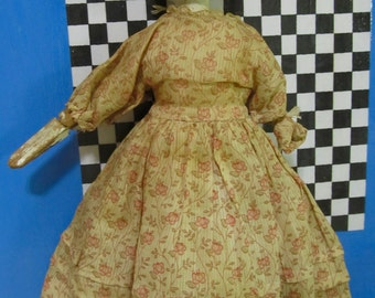 """Antique Grodner Tal Wooden 9.5"""" Doll Bought At An Auction In 1944 Just As Is"""