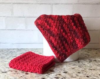 Kitchen Towels - Crochet Dishcloth - Cotton Dishcloth - Housewarming Gift - Crochet Washcloth - Modern Kitchen Decor - Crochet Dish Cloth
