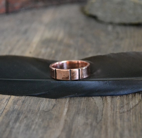Man S Hand Bands: Man Ring Band Thumb Ring Band Copper Ring Band Rustic By