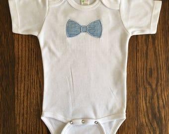 Bow Tie Bodysuit/ Baby Boy Gift/ Baby Shower Gift