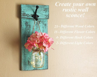 Decorative Wall Sconces For Flowers set of mason jar wall sconces mason jar sconce mason jar