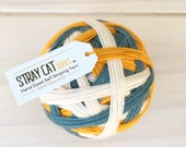 RESCUE CAT - vibrant hand dyed self striping sock yarn