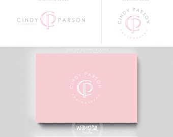 monogram logo photographer logo 2 initials businesscards  simple modern gender nutral branding kit Identity minimal wedding photographer