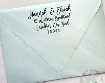 CUSTOM ADDRESS STAMP Wooden Handle or Self Inking