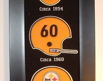 Pittsburgh Steelers Heritage Team Banner....Framed
