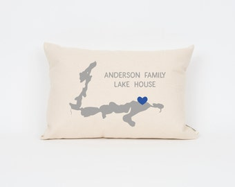 US Map Personalized Pillow Long Distance Love Home Pillow - Us map pillow personalized