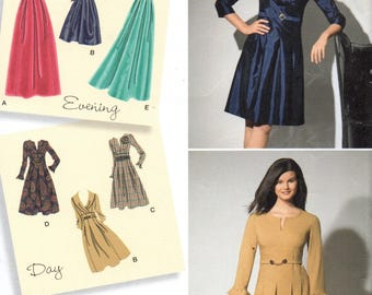 2338 Simplicity Sewing Pattern Day and Evening Dress Sleeve Variations Designer Inspiration Uncut Size 10 12 14 16 18