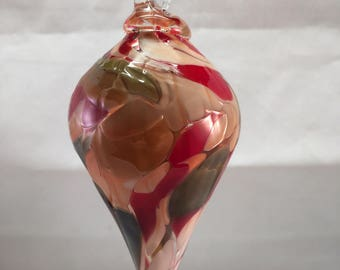 Tapered Glass Christmas Ornament