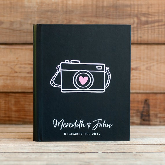 Lay Flat Wedding Guest Book Wedding Guestbook Wedding Photo Book Guest Sign in Book Wedding Photo Album Cardstock Pages Photo Guest Book