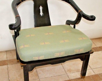 Mid Century Modern Asian James Mont Style Lacquer Lounge Chair By Century NC Insured safe nationwide shipping available