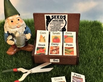 Miniature Seed Display Fairy Garden Accessories