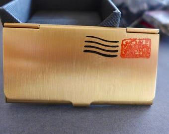 Vintage Postage Stamp Holder / Pre eMail Stamp Holder