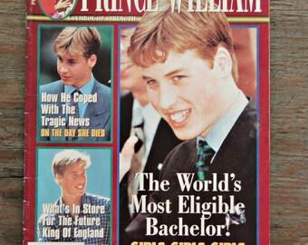 Prince William Magazine, Vintage Royal Family Magazine, British Monarchy Magazine, Vintage Celebrity Magazine, Princess Diana Magazine
