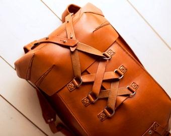 Leather Backpack - Men's Backpack - Leather Rucksack Bag - Travel Backpack - Handmade Backpack - School Bag - Laptop Bag - Shoulder Bag