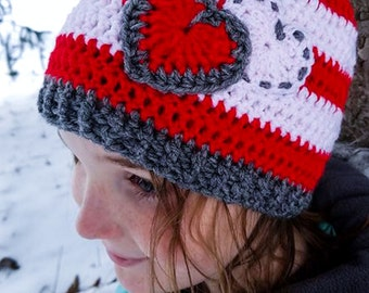 Striped Valentine Hat