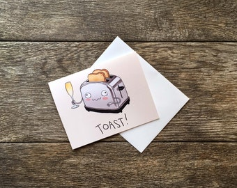 Congratulations Give a Toast Greeting Card *UPDATED*