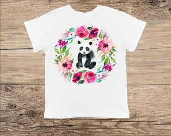 Panda Toddler Clothes, Cute Panda Bear Bodysuit or Toddler Shirt