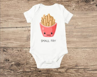 Funny Baby Clothes, Bodysuit with French Fries, Small Fry