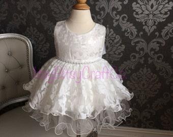 Baptism dress for Baby girl lace baptism dress Christening Dress