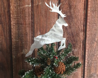 Harry Potter, Stag, Patronus, Handcrafted Metal Tree Topper, Holiday Decoration, Wreath Decoration, Christmas, Aluminum
