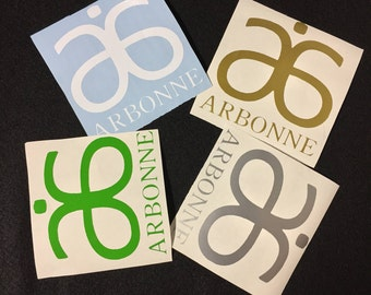 "ARBONNE Decal personalized customized tumbler decal arbonne decal 4"" each"