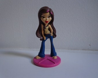 Collectible Bratz Doll Movie Toy Cake Topper, Vinyl Deco Kids Meal Fast Food Style Bakery Crafts Cupcake Figure Brunette