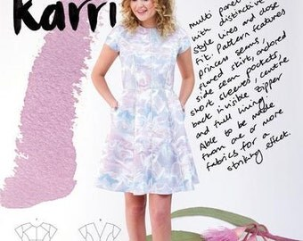 Karri Dress Paper Pattern- Megan Nielsen Patterns