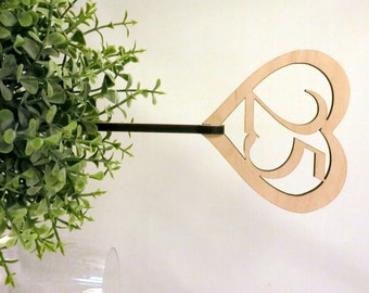 Rustic Heart Table Numbers,  Wedding Table Number, Gold or Silver,  Wooden Numbers for Table Centerpieces, Wedding Decor Reception Sign