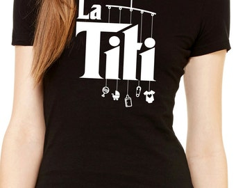 la titi the aunt women's shirt with mobile toys   |   gift for aunt