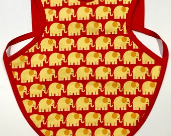Red and Yellow Elephant Bapron - Size 18-36 Months