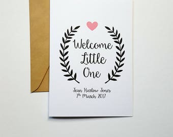 Personalised New Baby Card / Welcome Little One Card / Congratulations Card - C13/ C14