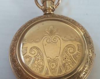 1890 Elgin ladies pocket watch, size 6