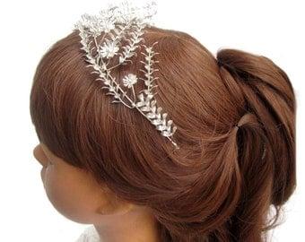 Vintage wedding Crown, Myrtle tiara of 800 silver Crown silver, Bridal Crown wedding, Myrtle Crown, Myrtle, Crown