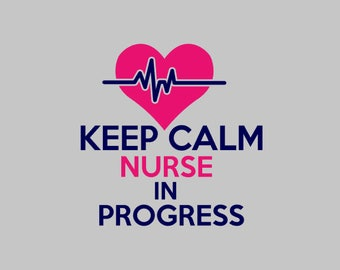 Keep Calm Nurse Decal | Nurse Decal | Nurse in Progress Decal | Nurse life Decal | Nurse Yeti Decal | Nursing Student Decal