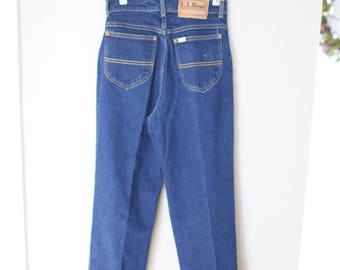 vintage 1980's high rise waist LL bean womens mom jeans 26