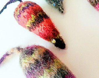 Felted Wool Mice Cat Toys, Wool Mouse, Mouse Cat Toy, Knit Mice, Catnip Mice, Valerian Cat Toys, Silver Vine, Kitten Toys, Toys for Cats
