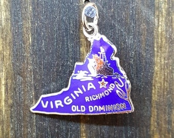 Vintage Virginia Charm with Blue Enamel