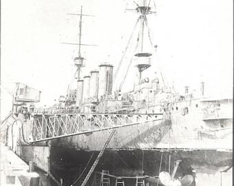 Vintage Photo ~  Dry Dock ~ shipyard