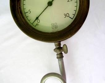 Ashcroft Pressure Guage Dial Vintage Industrial Gothic Decor